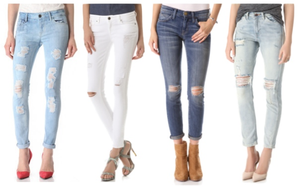 Ladies Ripped Jeans River Island